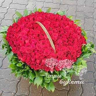 201 эквадорская роза в корзине